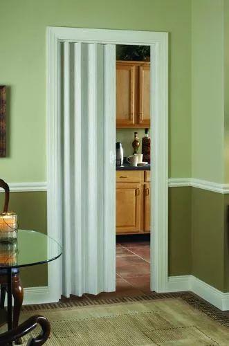 puerta plegadiza reforzada pvc 10mm completa 0,75x2m