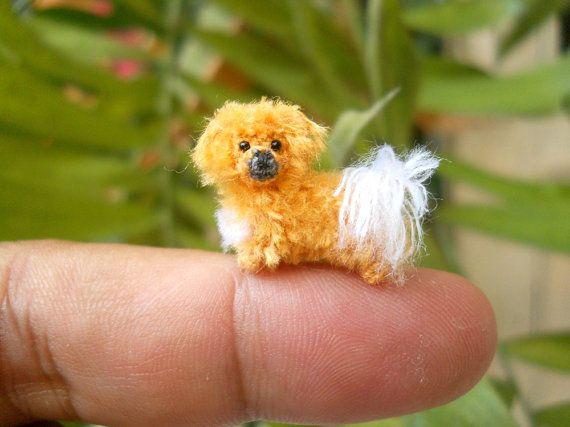Tibertan Spaniel Puppy Tiny Crochet Miniature Dog door SuAmi