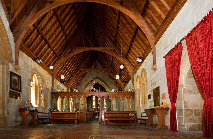 Interior of the All Saints Church in Bodalla, NSW  http://www.eurobodalla.com.au/all-saints-church-bodalla