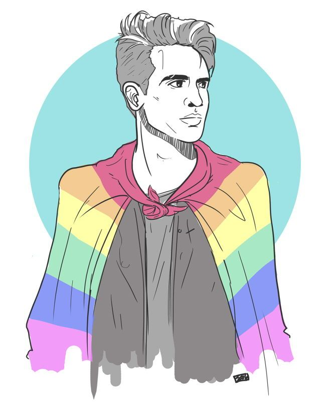 brendon urie's stage outfit after the orlando shooting <3