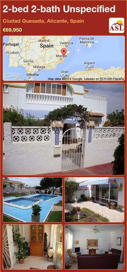 2-bed 2-bath Unspecified in Ciudad Quesada, Alicante, Spain ►€69,950 #PropertyForSaleInSpain