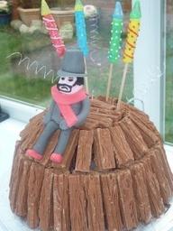 a chocolate flake bonfire cake!!