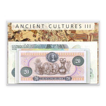 Αρχαίοι Πολιτισμοί - 15 Χαρτονομίσματα από όλον τον κόσμο!!Η Μοναδική Συλλογή Χαρτονομισμάτων από διάφορες χώρες του κόσμου με θέμα τους Αρχαίους Πολιτισμούς, που κατοίκησαν την εκάστοτε χώρα κατα την αρχαιότητα. Περιλαμβάνει τα ακόλουθα 15 χαρτονομίσματα: