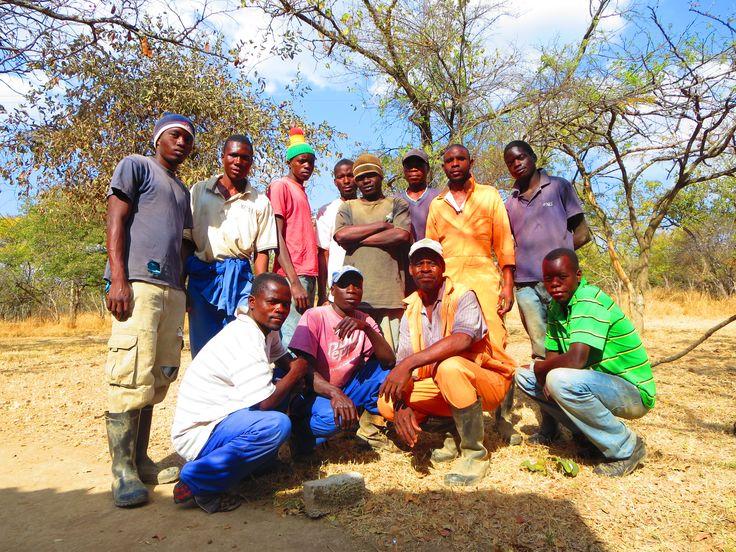 My team in Zimbabwe