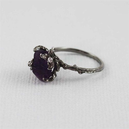 Unique Branch and Amethyst Ring by 4FireflyCollections on Etsy