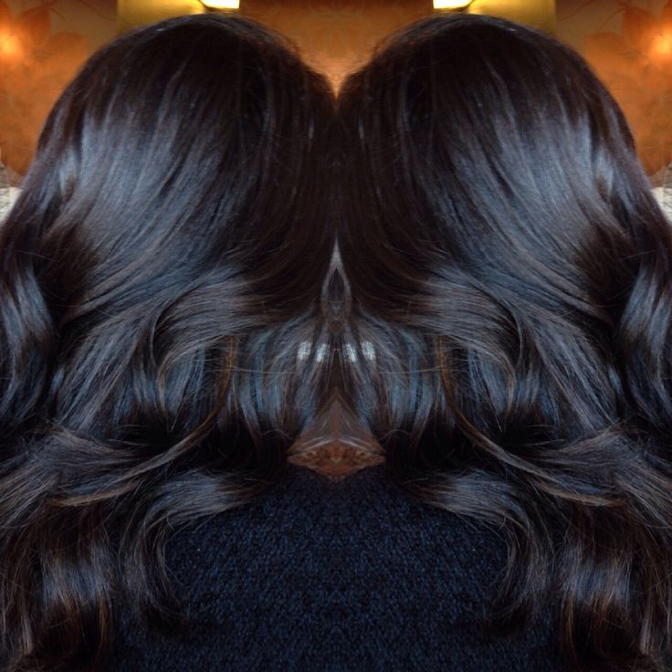 Dark brown balayage done by @ashleymichelleartistry