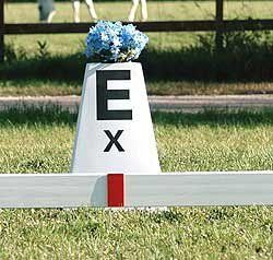 "Dressage Arena Letter Markers by Burlingham Sports. $47.95. Save the hassle, time and money with no more tape. Markers contain a red 2""x 5 1/2"" UV plaque and have a channel attached on the back, which simply snaps unto place on any 1 1/2"" dressage rail. Set of 8 or 12 red markers. ** Does not contain Arena Letters **"