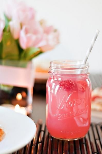 Raspberry Beer Cocktail {recipe via A Cup of Mai}