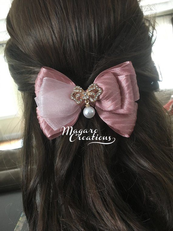 Hair Bows for Girls Large Bow Copper