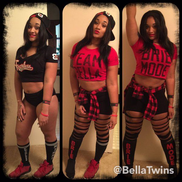 A little #TwinMagic went a long way as @redd_velvet dressed as Nikki and Brie Bella! #HalloWWEen