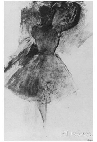Edgar Germain Hilaire Degas (Dancer with raised arms) Art Poster Print Photo at AllPosters.com