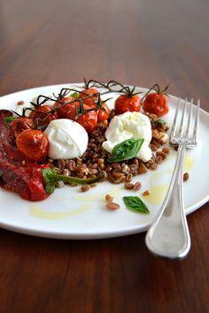 La Cuisine c'est simple: Simple comme de l'épeautre, tomates cerises et poivrons…