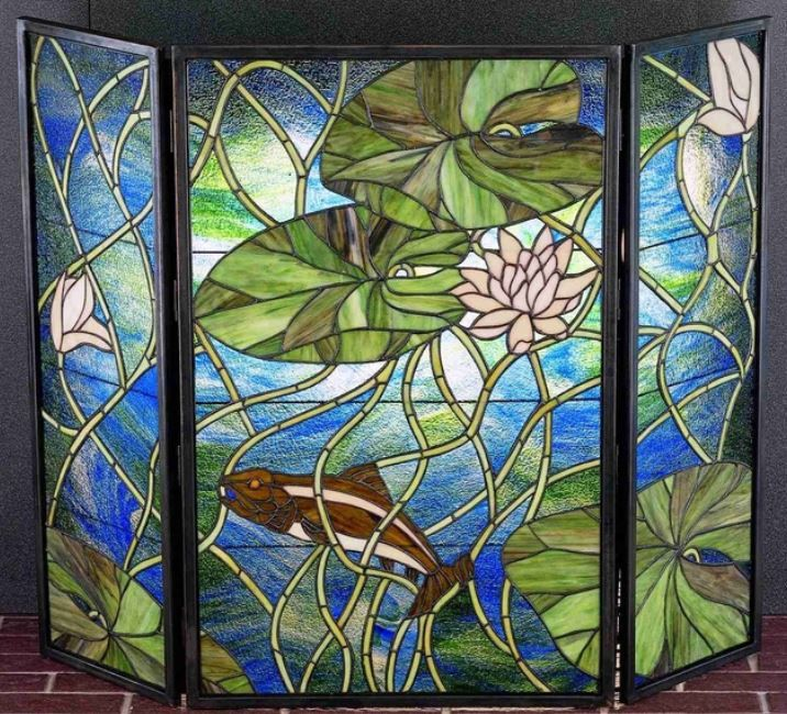 leaded glass fireplace screens. Stained Glass Fire Screen 10 best Fireplace Screens images on Pinterest