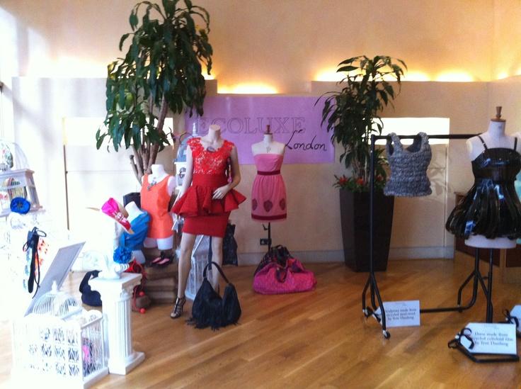 MuMu organic 'Alice dress' on display at Ecoluxe