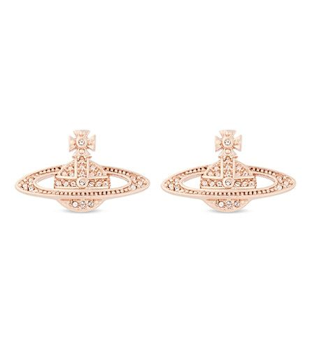 VIVIENNE WESTWOOD JEWELLERY - Mini Bas Relief diamante orb earrings | Selfridges.com
