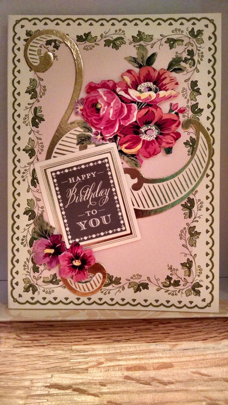 Admirable Anna Griffin Pretty Paintings Birthday Card Anna Griffin Personalised Birthday Cards Epsylily Jamesorg