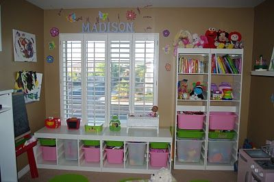 best believe my kids room will look some kind organized like this...thanks for the idea