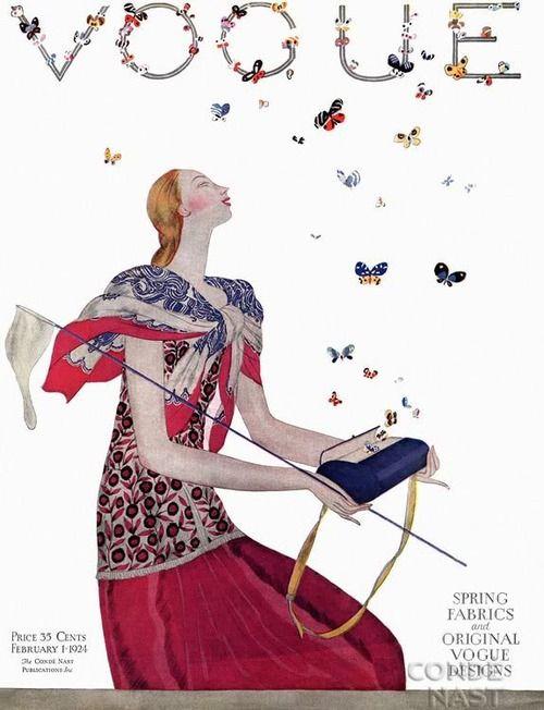 Vogue 1924    Fashion illustration by Eduardo Garcia Benito