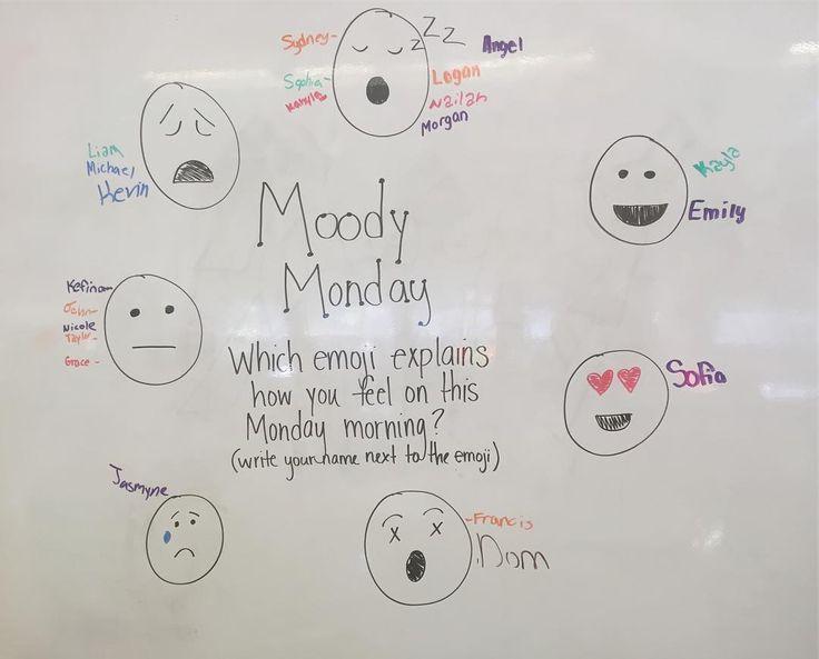 Moody Monday  #teachersfollowteachers #teachersofinstagram #iteachsixth #miss5thswhiteboard