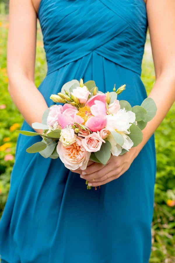 Teal Bridesmaids with peach bouquets    #wedding #weddings #weddingideas #aislesociety #rusticwedding #summerwedding