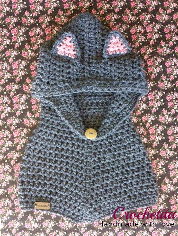 Cat inspired hoodedcowl #crochetita