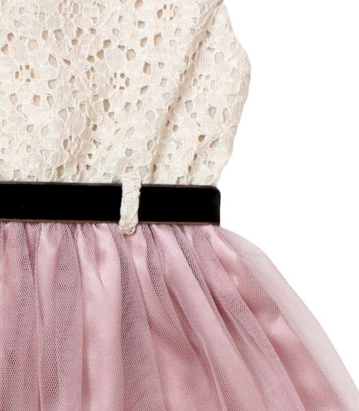 Tulle Dress in Latte