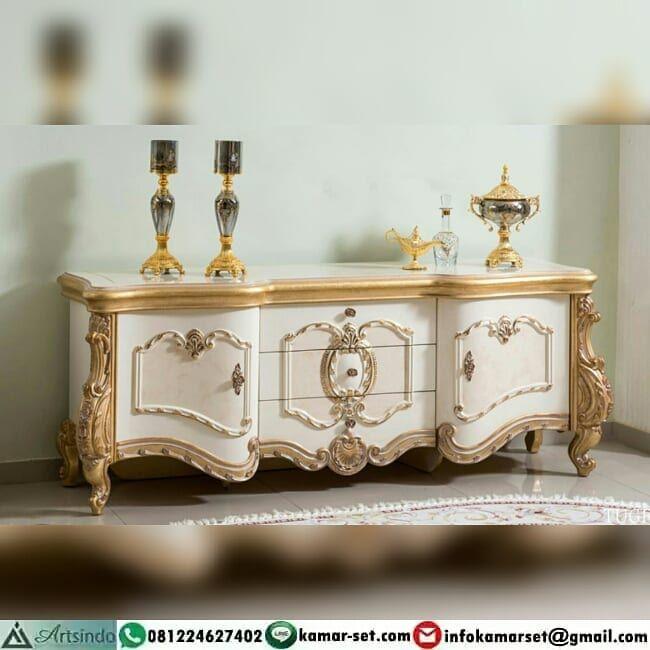 Bufet Klasik Mewah Gold Putih Mebel Klasik Furniture Mewah Di Instagram Furniture Mewah Desain Klasik Ukiran Eropa Kualitas Ekp Decor Tv Cabinets Home Decor