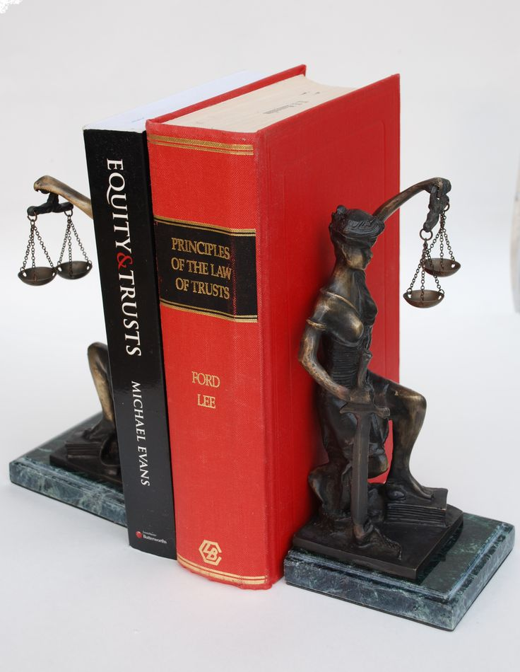 Lady Justice bookends