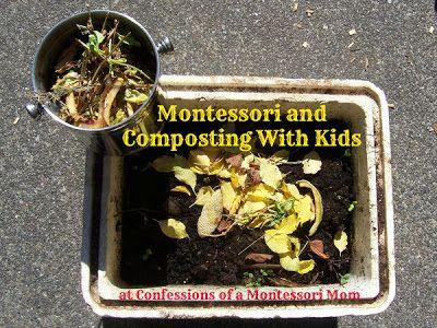 Montessori and Composting With Kids {Confessions of a Montessori Mom} #Montessori #outdoor #activities