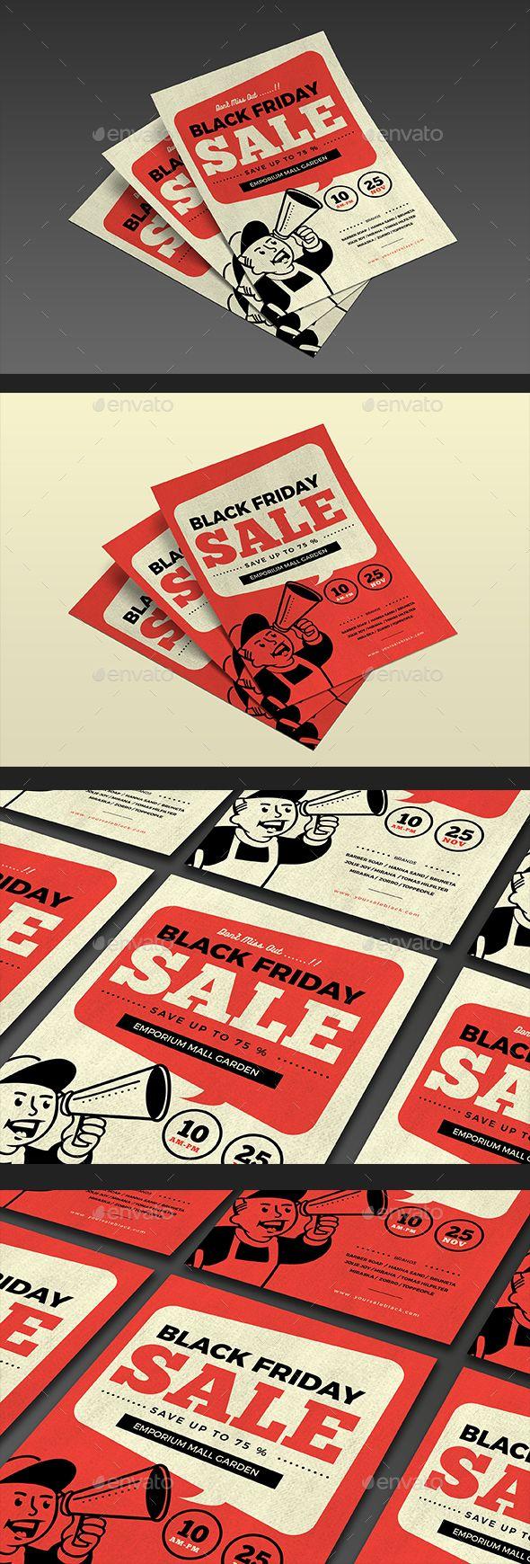 Black Friday Sale Flyer Template PSD, AI Illustrator