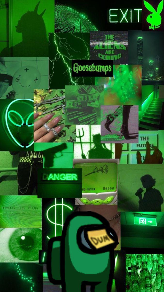 Among Us Iphone Wallpaper Tumblr Aesthetic Iphone Wallpaper Glitter Dark Green Aesthetic