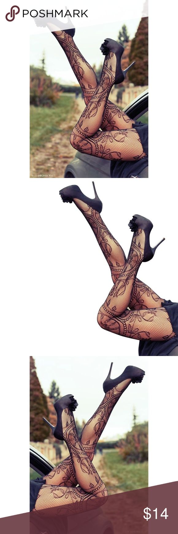 🛒Coming Soon Women's Tattoo Stockings Hot 2017 New Women sexy Silk stockings tattoo pantyhose Stockings Fancy Sexy Floral Pattern Fishnet Pantyhose Queen Esther Etc Accessories Hosiery & Socks
