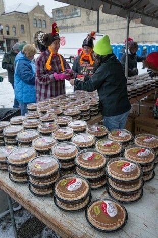 Cases of pumpkin pies were handed out to participants. The 6th Annual Festival Foods Turkey Trot brought hundreds of runners and walker to downtown Oshkosh early Thanksgiving morning. The event benefits the Oshkosh Boys and Girls Club and YMCA.