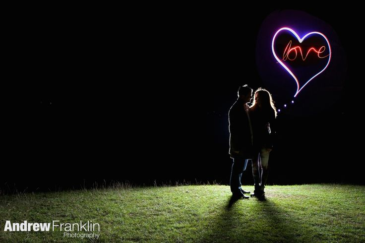 pre wedding shoot, light painting, engagement shoot, By Andrew Franklin Photography, www.andrewfranklin.co.uk