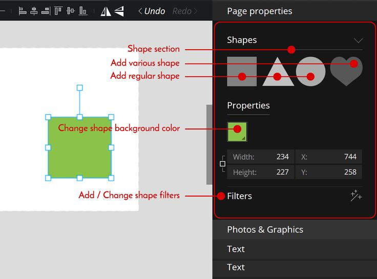 How to set #shape #filters on your @PixTeller #designs.