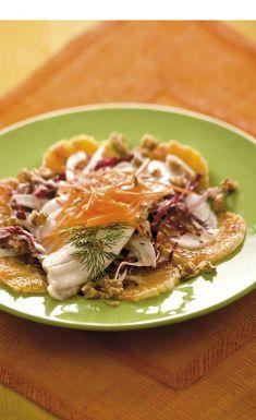 Insalata tiepida di persico con radicchio, arance e noci - Tutte le ricette dalla A alla Z - Cucina Naturale - Ricette, Menu, Diete
