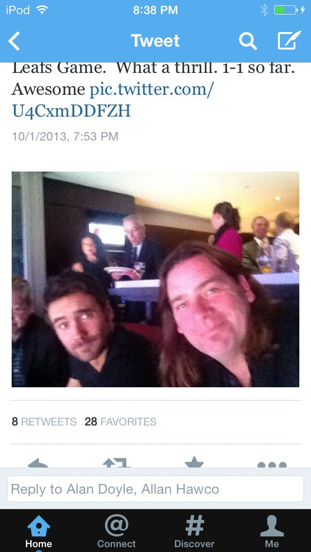 Allan Hawco and Alan Doyle