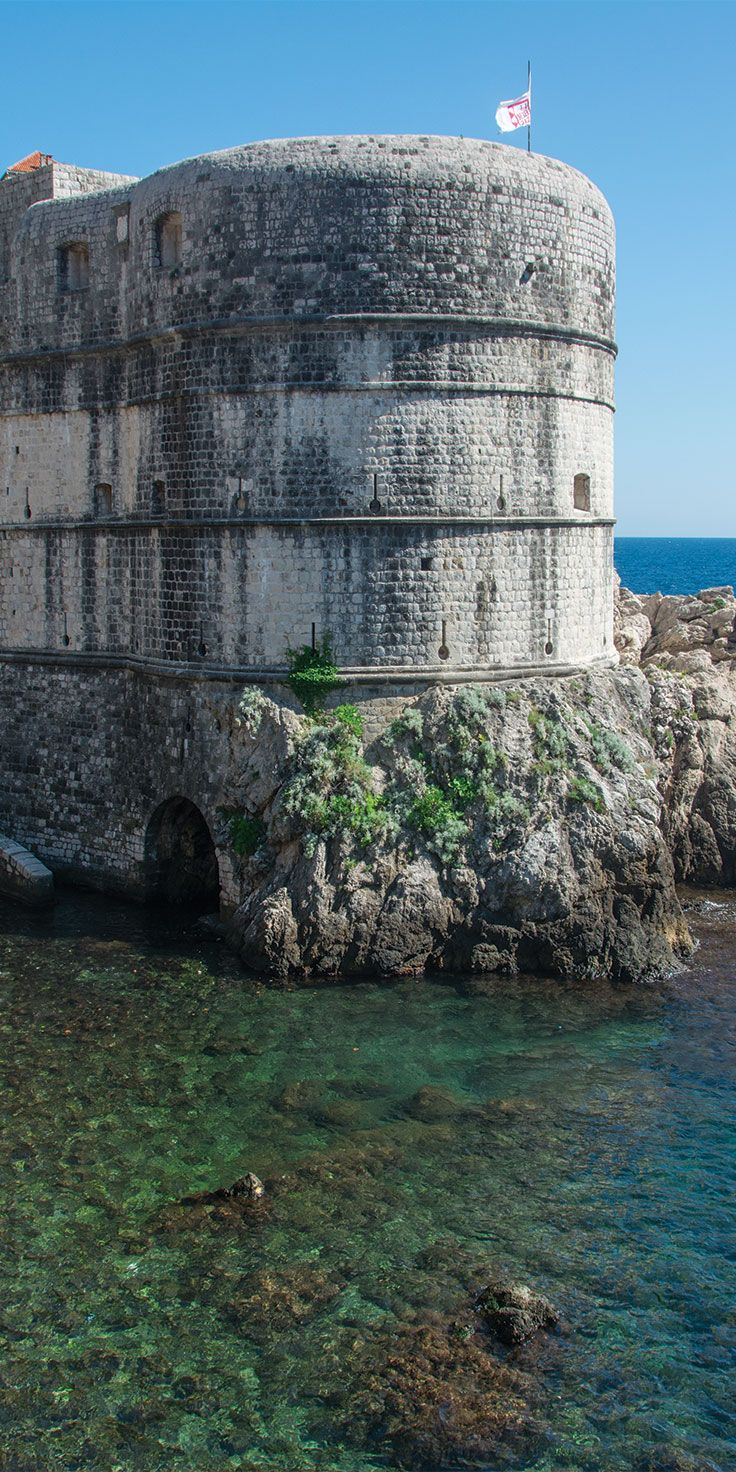 Medieval ruins by the sea - by Pauly Vella