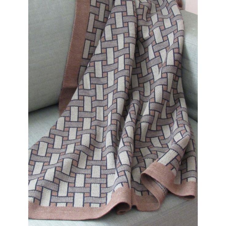 Basketweave - Throw - Brown - Sofa Blanket - Bed - Homewear - Beige