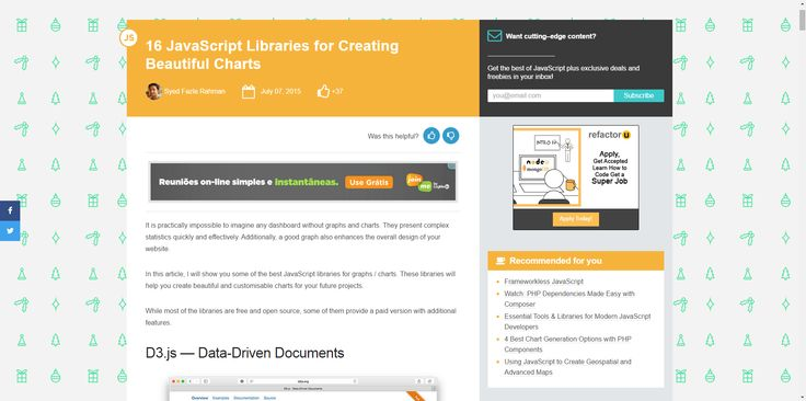 The 15 Best JavaScript Charting Libraries