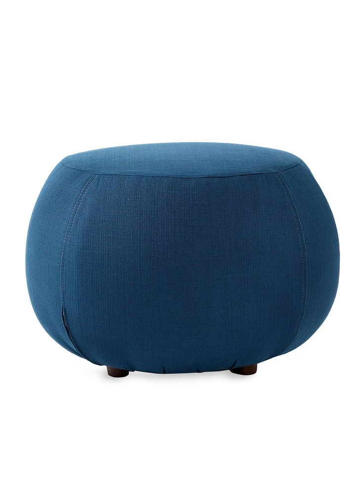 Small Round Ottoman by Gilt Home Collection at Gilt