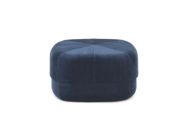 Circus Pouf large in dark blue velour – Nordic Moroccan pouf