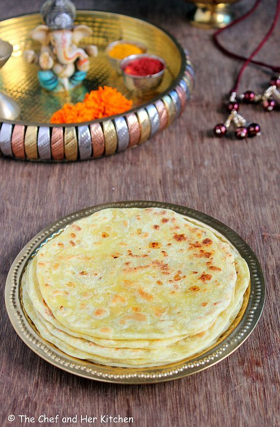THE CHEF and HER KITCHEN: Puran Poli Recipe   Bobbatlu   Ganesh Chaturthi Recipes