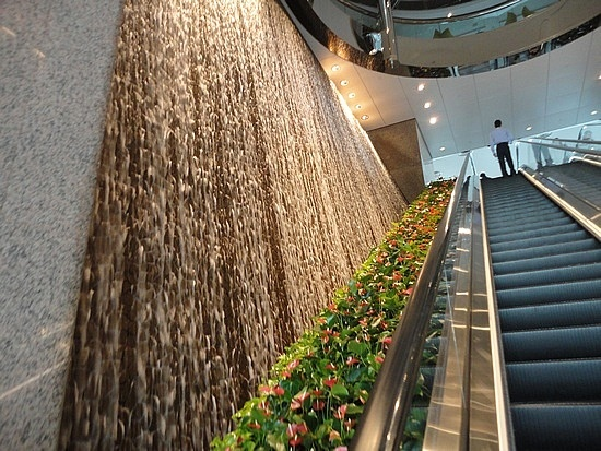 indoor waterfall like the idea that it is textured wall may make it sound