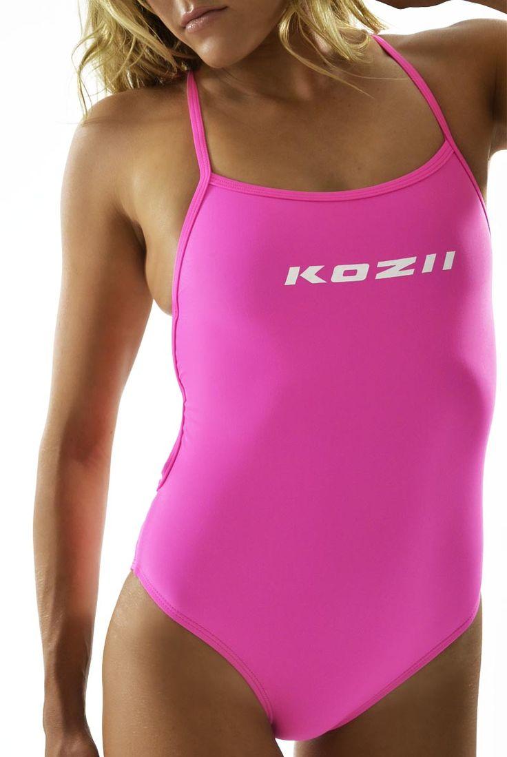 KOZII MATCH UPS RANGE: HOT PINK STRAPII 1 PIECE  www.kozii.com #bikini #swimwear #sports #swim #pool #surf #beach #summer