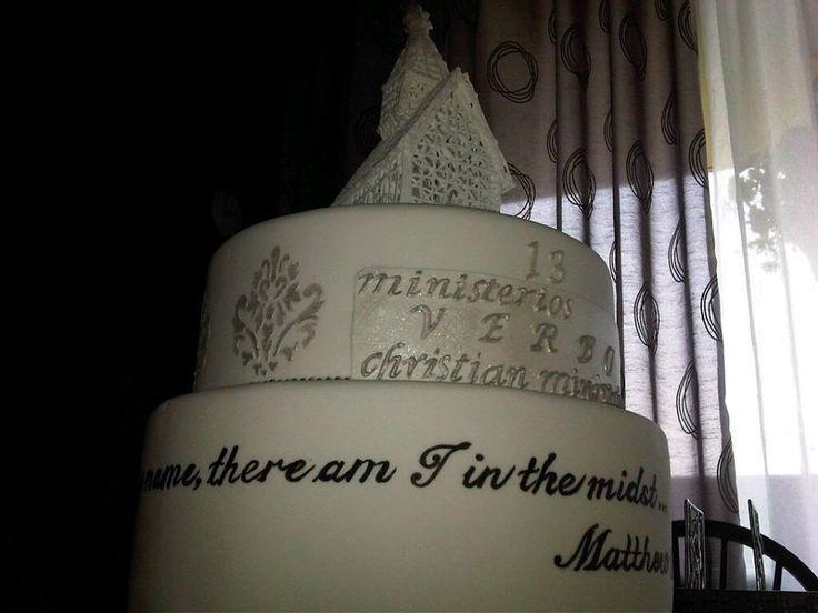 An elegant cake for church anniversary