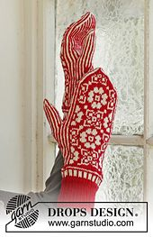 Ravelry: 0-871 Christmas mittens pattern by DROPS design