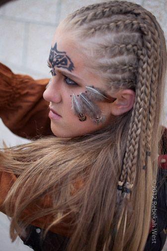 Ancient Celtic Women Warriors | Celtic Woman Warrior Preparing for Battle