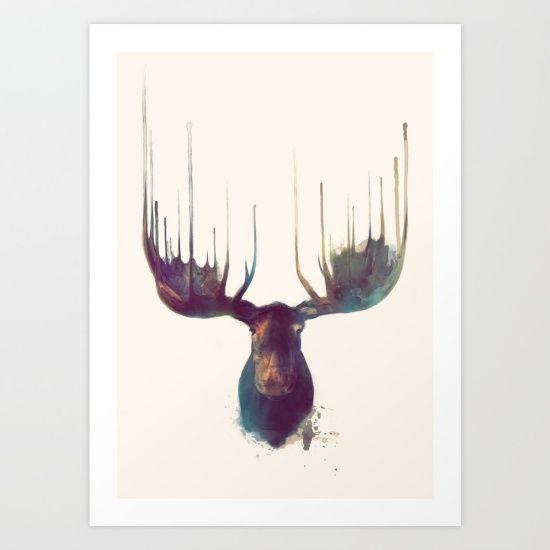 moose, antlers, nature, animal, wild, wildlife, neutral