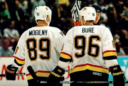 Alex Mogilny and Pavel Bure